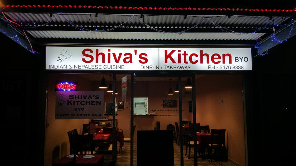 Shiva's Kitchen Buderim Sign