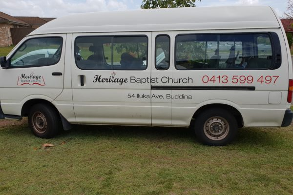 Heritage Baptist Church Van Signage-Side